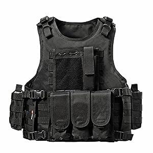 yakeda® Army Fans de Tactical Vest CS Champ SWAT Tactical Vest Army Gilet de fans en plein air CS Jeu Gilet Cosplay des Counter Strike Jeu Vest de 322