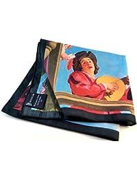 GIGETTO Fazzoletto da taschino in cotone, con stampa d'arte. Uomo. Donna. Pochette Limited Edition.