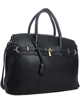 Big Handbag Shop Damen Handtasche Kunstleder Designer-inspiriert