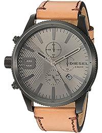 45ee625b395 Diesel Men s Chronograph Quartz Watch with Leather Strap DZ4468