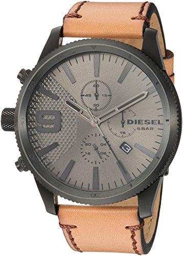 Diesel Herren Chronograph Quarz Uhr mit Leder Armband DZ4468
