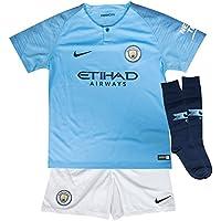 Nike MCFC LK NK BRT Kit HM - Conjunto equipación Manchester City 18/19, Unisex Infantil, Azul(Field Blue/Midnight Navy)