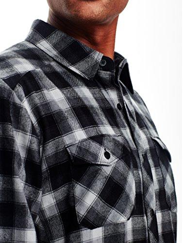 Icebreaker Herren Lodge Long Sleeve Flannel Shirt Hemd Gritstone Hthr/Black/Plaid