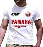 Print & Design T-Shirt Maglietta Yamaha R1 Personalizzata Bianca (m)