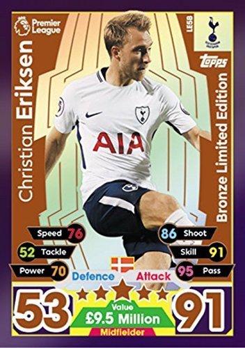 ristian Eriksen Bronze Limitierte Ausgabe Karte LE5B - Tottenham 2017/18 ()