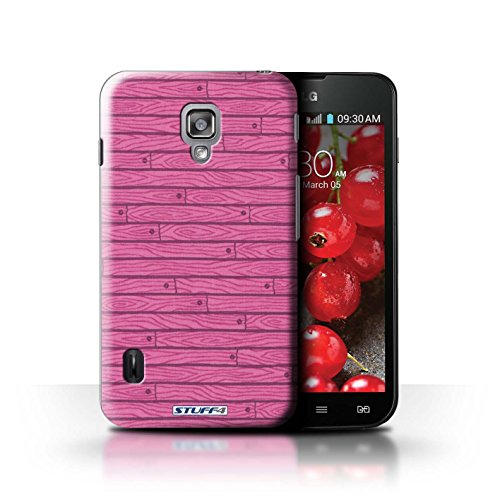 Kobalt® Imprimé Etui / Coque pour LG Optimus L7 II Dual / Beige conception / Série Motif Bois Rose