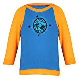 Clifton Baby Boys Raglan Printed Full Sleeve T-shirts -Royal Blue-Bright Orange -Born To Win -0-6 Months
