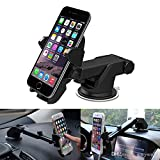#9: YourBuy Telescopic Car Mount Mobile Holder 360 rotate for (Black) for Renault Duster