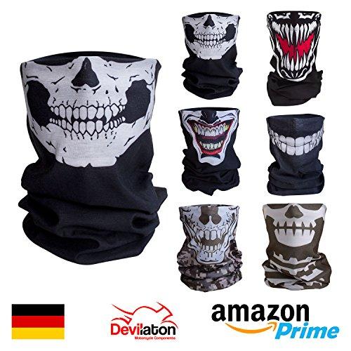 Qualitatives Multifunktionstuch / Motorrad Totenkopf Maske / Face Shield / Sturmmaske - fürs Fahrrad / Ski / Snowboard / Paintball / Klettern / Wandern - [Totenkopf / (Kostüme Fünf Tage Eine)