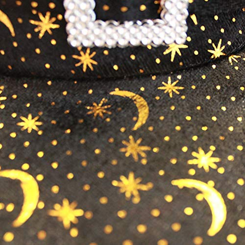 Kostüm Star Silver Kinder - ZYJT Halloween Hut Erwachsene Kinderkostüm Ball Star Moon Ecke Hut Partei Liefert Dekoration Requisiten ( Color : Gold , Size : 35*38cm )