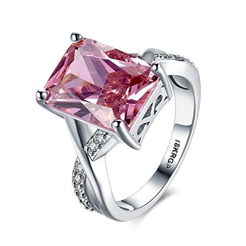 Amour Infini Bague de Fiançailles Femme Alliance Mariage Anneau Anniversaire 18K en Plaqué Or et Zirconium Cubique Diamant Idée Cadeau, 6