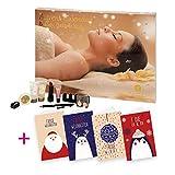 Accentra Adventskalender Bath and Body - SPA - Wellness and Beauty + 4 itenga Weihnachtskarten