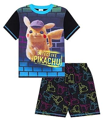 Detective Pikachu Pokemon Pijama Corto de 6 a 13 años PJ Game Movie Boys
