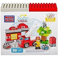 Junior Builders - Estación de Bomberos, juego de construcción (Mega Brands 07153)