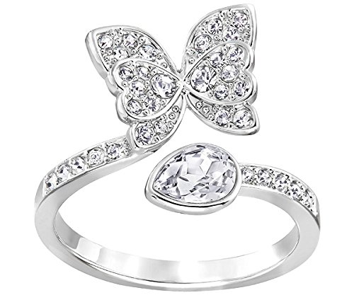 Swarovski donna-anello rodiato bianco - Eden 52214, base metal, 20, cod. 5221482