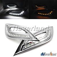 Pligh (TM)-2 fari marcia diurna con fari marcia diurna, colore: bianco a 9 LED Turn Signal-Fanali posteriori per Hyundai Sonata 2011-2013 C20
