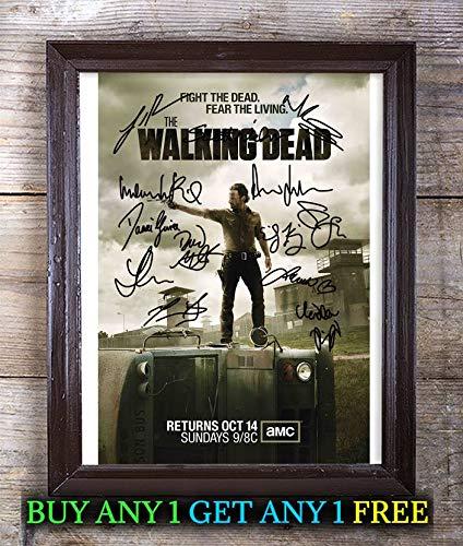Reprintz Graphs The Walking Dead Cast Autogramm Nachdruck Foto #99, besondere einzigartige Geschenkideen Freunde, Geburtstag, Weihnachten, Valentinstag, Vatertag, Muttertag Framed (Dead 99 Walking)