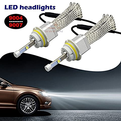 sweon 900780W 4800LM Lampe frontale à LED CREE xhp-50Kit de conversion Hi/faible faisceau Blanc Ampoules 6000K haute puissance H1H3H4H7H11H139004900590069012