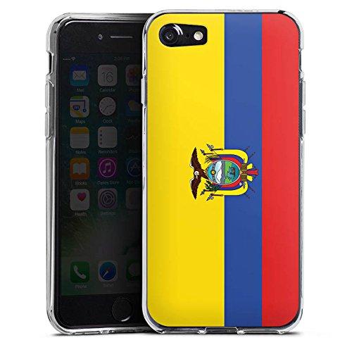 Apple iPhone X Silikon Hülle Case Schutzhülle Ecuador Flagge Fußball Silikon Case transparent