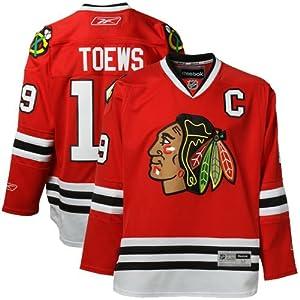 Reebok NHL Eishockey Trikot Jersey Premier Chicago Blackhawks Jonathan Toews #19 rot