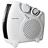 Babz 2000 Watts Fan Heater with 2 Heat Settings & Cool Blow, Adjustable Thermostat, Thermal Auto Cut off - 2kw - Upright & Flat