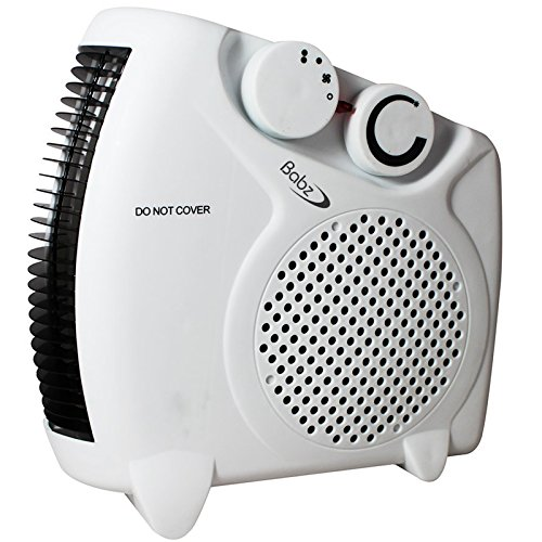51gw7dkATYL. SS500  - Babz 2000 Watts Fan Heater with 2 Heat Settings & Cool Blow, Adjustable Thermostat, Thermal Auto Cut Off - 2kw - Upright & Flat