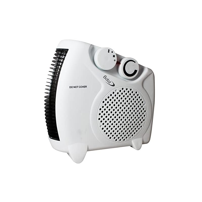 Babz 2000 Watts Fan Heater with 2 Heat Settings & Cool Blow, Adjustable Thermostat, Thermal Auto Cut off – 2kw – Upright…