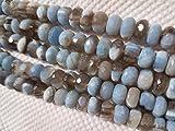 8MM afrikanischen Opal facettiert Rondelle 20,3cm Länge, super Qualität, blau Opal facettierte Rondell