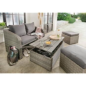 Gartenmöbel set lounge grau  Amazon.de: Destiny Lounge Jersey II Grau Gartenmöbelset Loungeset ...