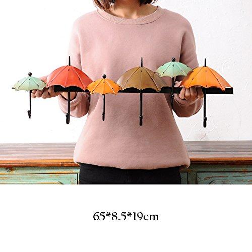 FEIFEI Cintres Vêtements Crochet Creative Art Iron Umbrella Forme Tenture Murales Décorations Murales stable et durable (Couleur : A)