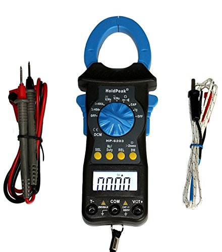 Holdpeak HP-6203 AC/DC Stromzange grau/blau Kompaktes digitales Zangen-Multimeter Gleichstromzange Amperemeter