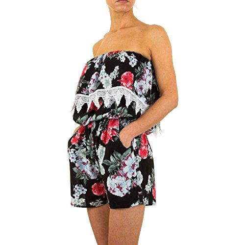 Kurzer Off Shoulder Overall Für Damen bei Ital-Design Schwarz
