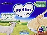 Mellin Liomellin Agnello Liofilizzato Confezione da 18 Vasetti, 18pz x 10 g