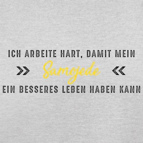 Ich arbeite hart, damit mein Samojede ein besseres Leben haben kann - Herren T-Shirt - 12 Farben Hellgrau
