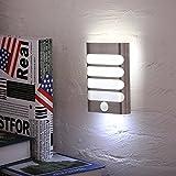 KINGSO Lampe Placard Veilleuse LED Lampe Détecteur De Mouvement à Piles avec Interrupteur Lampe sans fil à Capteur D'Infrarouge idéal Pour Penderie, Escalier, Cabinet, Armoire Blanc Froid
