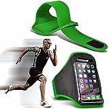 Acer Liquid Z410 - Einstellbare Sport-Armband Fall-Abdeckung für Laufen Jogging Radfahren Gym - Green