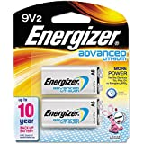 Energizer 11427 - 9 Volt Advanced Lithium Battery (2 Pack) (LA522SBP2)