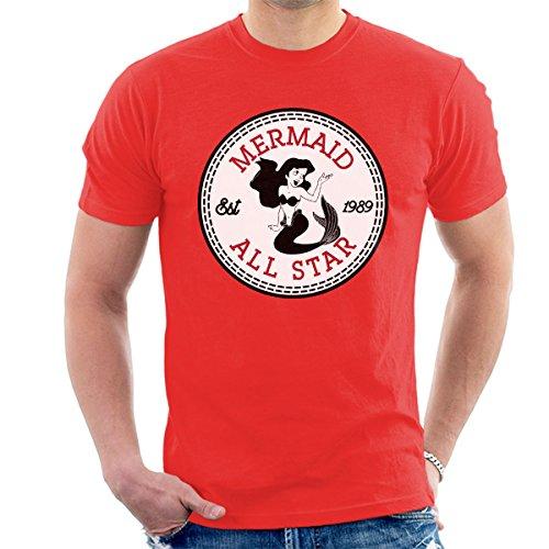 Little Mermaid Ariel All Star Converse Logo Men's T-Shirt