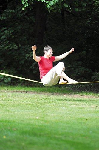 HUDORA Slackline-Set, 15 m lang, 3,8cm breit + Baumschutz - 5