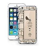 iPhone 6S Hülle von licaso® für das Apple iPhone 6 & 6S aus TPU Silikon iPhone Technik Chip Akku Kamera Muster ultra-dünn schützt Dein iPhone & ist stylisch Schutzhülle Bumper Geschenk (iPhone 6 6S, iPhone Technik)