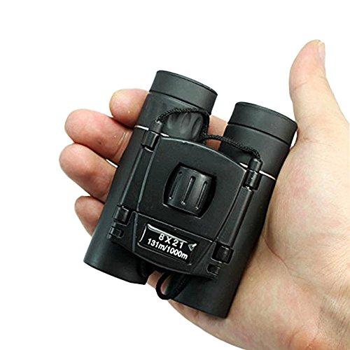 8x 21Mini Fernglas, zusammenklappbar Pocket Compact Travel Mini Teleskop für Erwachsene Kinder Vogelbeobachtung Wandern Sightseeing Events–Ultra Compact–Light Tragekapazität: BaK4-Optics Objektive