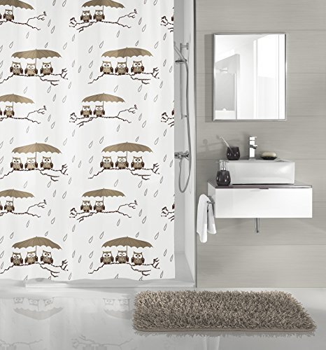 Kleine Wolke Duschvorhang Eulen, 180 x 200 cm thumbnail