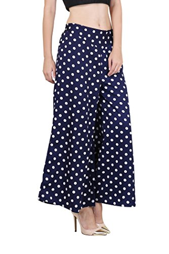 Myshka Crepe Regular Fit Elastic Closure Stylish Flared Polka Dot...