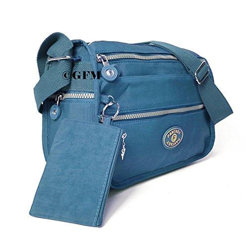 GFM Fashion, Borsa a tracolla donna Small Style 4 - Jeans Blue (JNSNL)