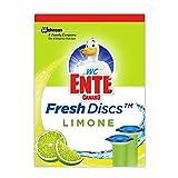 WC Ente Spendergriff mit 6 Gel WC Steinen, Für Frische und Sauberkeit bis zu 8 Wochen, Limone-Duft, 36 ml, Frische Siegel