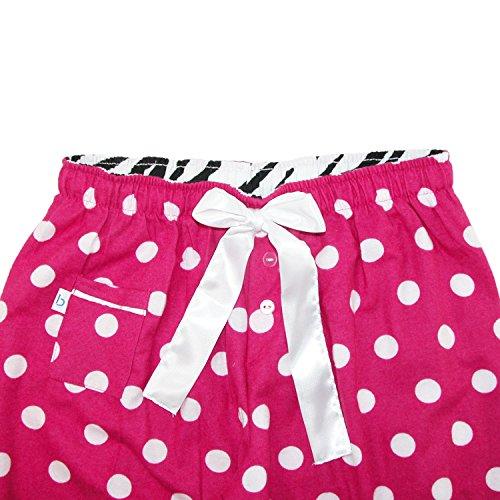 boxercraft - Bas de pyjama - À Carreaux - Femme taille unique Pink Dot