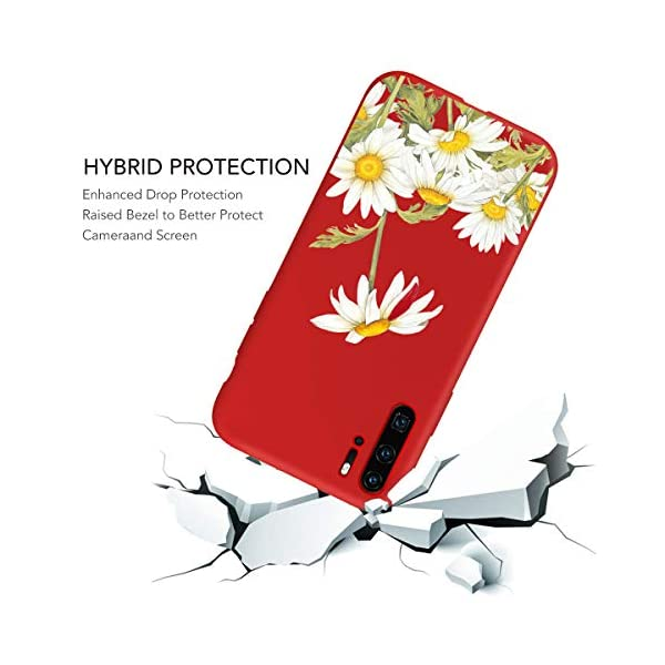 Oihxse Compatible with Huawei P20 Case 3 Pieces with Fashion Design, Soft TPU Bumper Ultra-Thin [Wireless Charging] Back Cover, [Anti-fingerprint] [Non-Fade] Red Matte Finish Skin Shell(4) Oihxse 🦜【Ultra-Thin & Slim Fit】3pcs Ultra-Slim design snugly fit for your Huawei P20 to bring [Sleek Look], [Stylish Charming] and [Great in-hand Feeling] due to the process with matte finish compliment with fashion pattern on the mobile phone case back-red colour. 🦜【Support Wireless Charge】With precision cutouts of the Huawei P20, you can easy access to headphone jack, charger port, key mute, speakers, audio ports and buttons without the interference of [WiFi Reception], [Signal Reception], [Wireless Charging Performance], etc. 🦜【Anti-Fingerprint & Non-Fade Material】Crafted with soft anti-yellowing and non-fade TPU material with red frosted finish to provide you fingerprint resistant, anti-slip, daily scratches, bumps, drops and other daily damages. 5