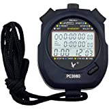 LEAP Digital Professional Handheld LCD Multifunctional Chronograph Sports Stopwatch Watch LCD Meter Clock