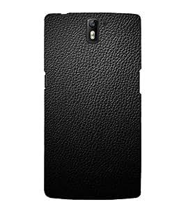 EPICCASE Black leather finish Mobile Back Case Cover For OnePlus One (Designer Case)