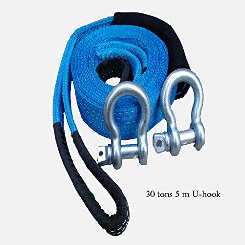 4 m 5 tonnes de corde de remorquage double ceinture de remorque /épaisse pour tirer votre voiture corde de traction